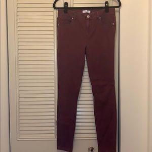 Loft Women's Maroon Skinny Jeans